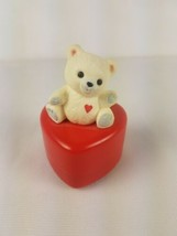 Hallmark Valentines Day Trinket Box Heart with White Bear on Top - $8.86