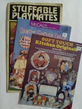 stuffable  playmates/soft touch dolls and mccalls country garden dolls books - $5.00