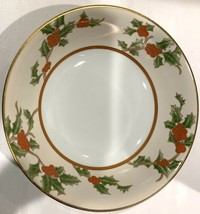 """Fitz and Floyd Christmas Holly 9"""" Round Vegetable Bowl - $71.25"""