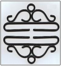 """Black Wrought Iron Bellpull pair 12cm (4.75"""") 80512 Lene Boje  - $18.00"""