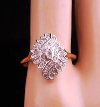 30 diamond ring / yellow gold / cluster ring/ engagement ring / Wedding ... - $325.00