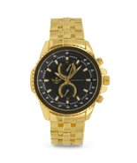 Gold Triangle Cut Bezel Executive Classic Mens Watch - $47.99