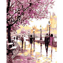 """Romantic Scenic16X20"""" Paint By Number Kit DIY Acrylic Painting on Canvas Unframe - $8.99"""