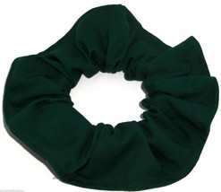 Hunter Green Cotton Fabric Hair Scrunchie Scrunchies by Sherry Ponytail Holder - $6.99