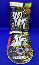 Just Dance 4 (Microsoft Xbox 360, 2012) Kinect CIB Complete, Tested And Working! - $12.36