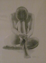 "Original Framed & Matted De Simone Title Unknown ""Nude Woman In Pose"" Ar... - $149.99"