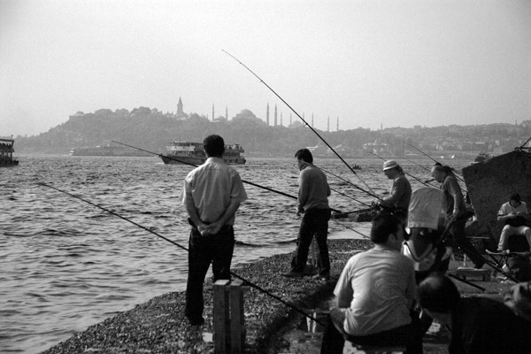 Fishermen on the Golden Horn 11x14 matted print