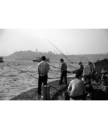 Fishermen on the Golden Horn 11x14 matted print - $20.00