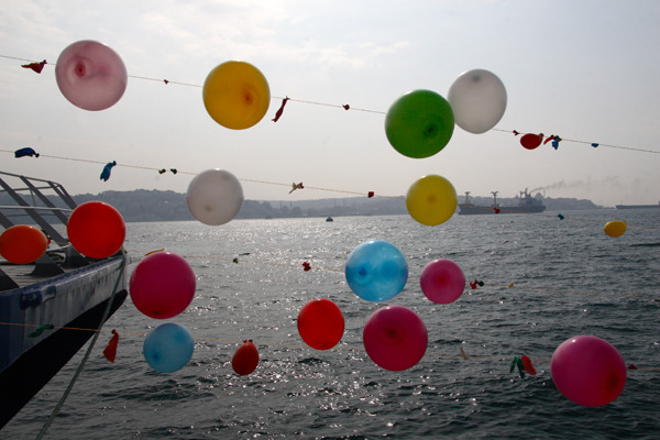 Balloons on the Bosphorus 11x14 matted print