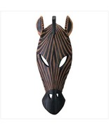 Wall Plaque  Zebra Mask has  texture of carved ... - $7.99
