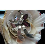 Sterling Silver Bow Brooch Vintage 17.4 grams 3D Figural Bow - $55.00