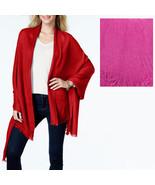 New ANNE KLEIN Boho Chic Heather Gauze Shawl Womens Wrap Scarf Pink - $9.98