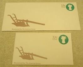 USPS Scott U573 13c Envelope Farmer Bicentennial Era Lot of 2 Green - $3.45