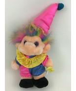 "Trolio Trolls Clown Pink Blue 15"" Plush Stuffed Toy Doll with Brush Vint... - $22.23"