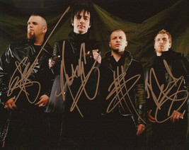Three 3 Days Grace Group Band Signed Photo 8X10 Rp Autographed All Members - $19.99