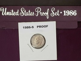 1986~S ROOSEVELT DIME DEEP CAMEO GEM PROOF FROM MY PROOF SET IN PROTECTO... - $5.89