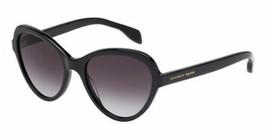 Nuevo Alexander Mcqueen Gafas de Sol Color Negro AM0029s 001 51MM Ojos Gato - $128.69