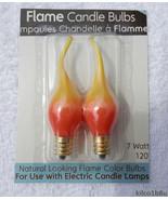 Orange / Yellow Wavy Tip 7 Watt Steady Burn Light Bulbs - $6.00
