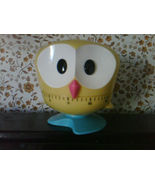 Owl Kitchen Timer -- YELLOW -- NEW! By Kikkerland Cute Makes a Great Gift! - $15.50