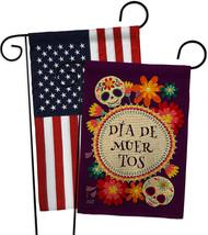Celebrate Dia de Muertos Burlap - Impressions Decorative USA Applique Garden Fla - $34.97