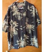 Havana Jack's Cafe Mens Hawaiian Floral Shirt XXL Silk Button Front Blac... - $17.99
