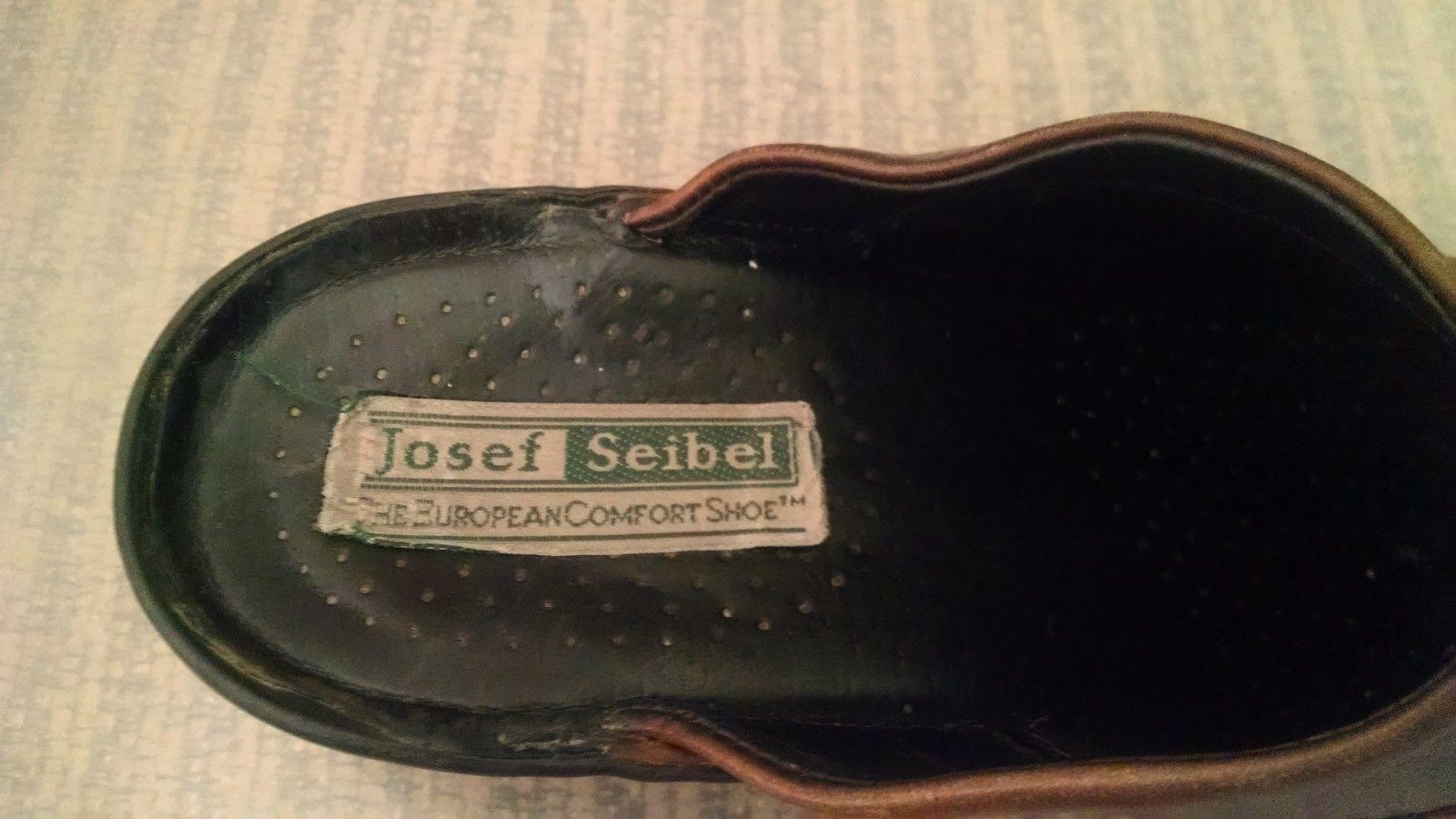 Josef Seibel Womens Clogs 38 EU 7 - 7.5 US Mules Slip On European Comfort Shoe image 3