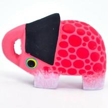 Handmade Alebrijes Oaxacan Wood Carved Folk Art Elephant Magnet