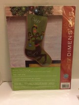 "Dimensions Felt Applique Kit Ornate Deer Stocking 19"" #72 08165 NIP - $9.49"