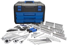 Kobalt 227-Piece Standard (SAE) And Metric Mechanic's Tool Set With Hard... - $195.87