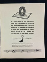 National Fluid Seal Magazine Ad 10.75 x 13.75 Wolverine Tube Division - $9.89