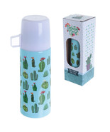 Funky 350ml Flask Cactus Design Hot or Cold Drinks Thermos Gift Present - $20.78