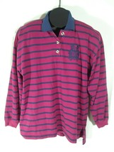 Ricki and Company Leisure Clothing  Womens Purple Striped Top Large GT - $18.95
