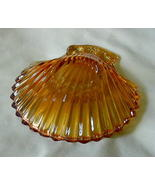 Vintage Carnival Glass Shell Dish w/Pear Grapes  - $12.00