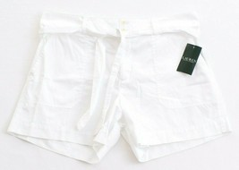 Lauren Ralph Lauren White Casual Cotton Shorts with Belt Women's NWT - $37.49