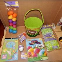 Easter Mix Lot 8 Items Felt Basket Dye Racer Grass & Eggs  Growing Stickers 163R - $12.49