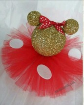 4 Gold Glitter Minnie Mouse Head Centerpieces 1... - $48.62