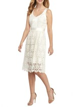 NWT ANNE KLEIN WHITE LACE FLARE DRESS SIZE 14 $139 - $42.74