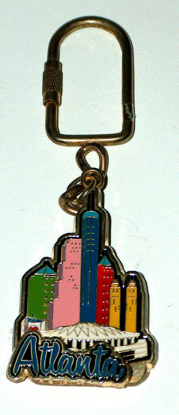 "Primary image for Downtown Buildings Atlanta Georgia 4.5"" Metal Key Chain PCF KTE-ATL 1053"