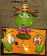 Metal Witch Halloween Pumpkin Jack-o-lantern Holder Accent Decoration New - $9.97