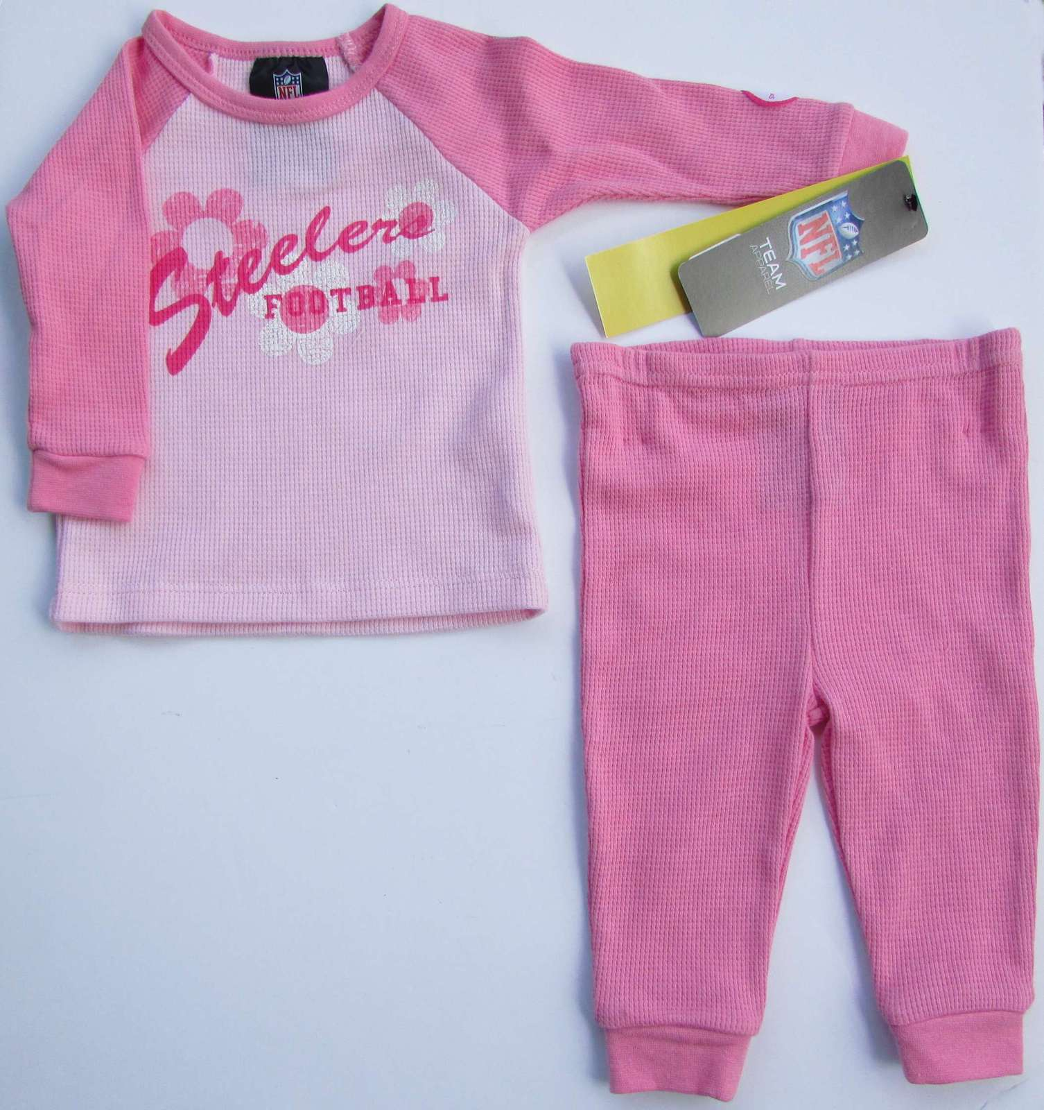 best cheap f2f23 5e93f STEELERS 2 Piece Girls Pink Thermal Pajamas and 50 similar items