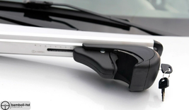 Silver Fit For MITSUBISHI Pajero Full 5D Top Roof Rack Cross Bars 2006- - $111.27