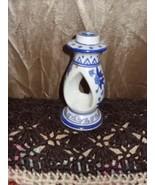 Ornate Blue Flow Candle Holder - $5.00