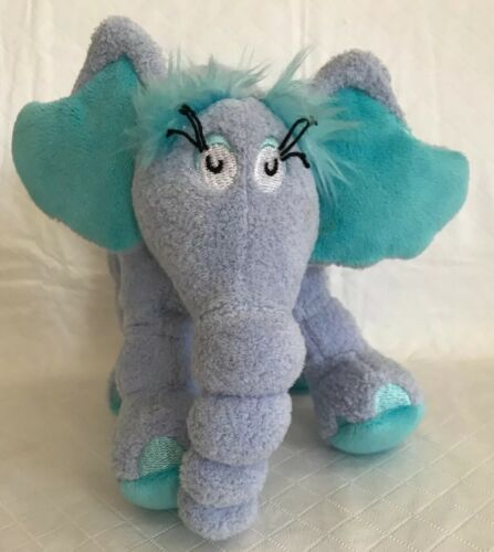 "Horton Dr Seuss elephant plush stuffed animal about 6/"" tall"