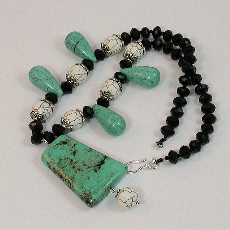 Genuine TURQUOISE necklace Hand-Made One of a kind