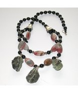 CHUNKY GEMSTONE necklace - This is unique designer and show  - $129.00