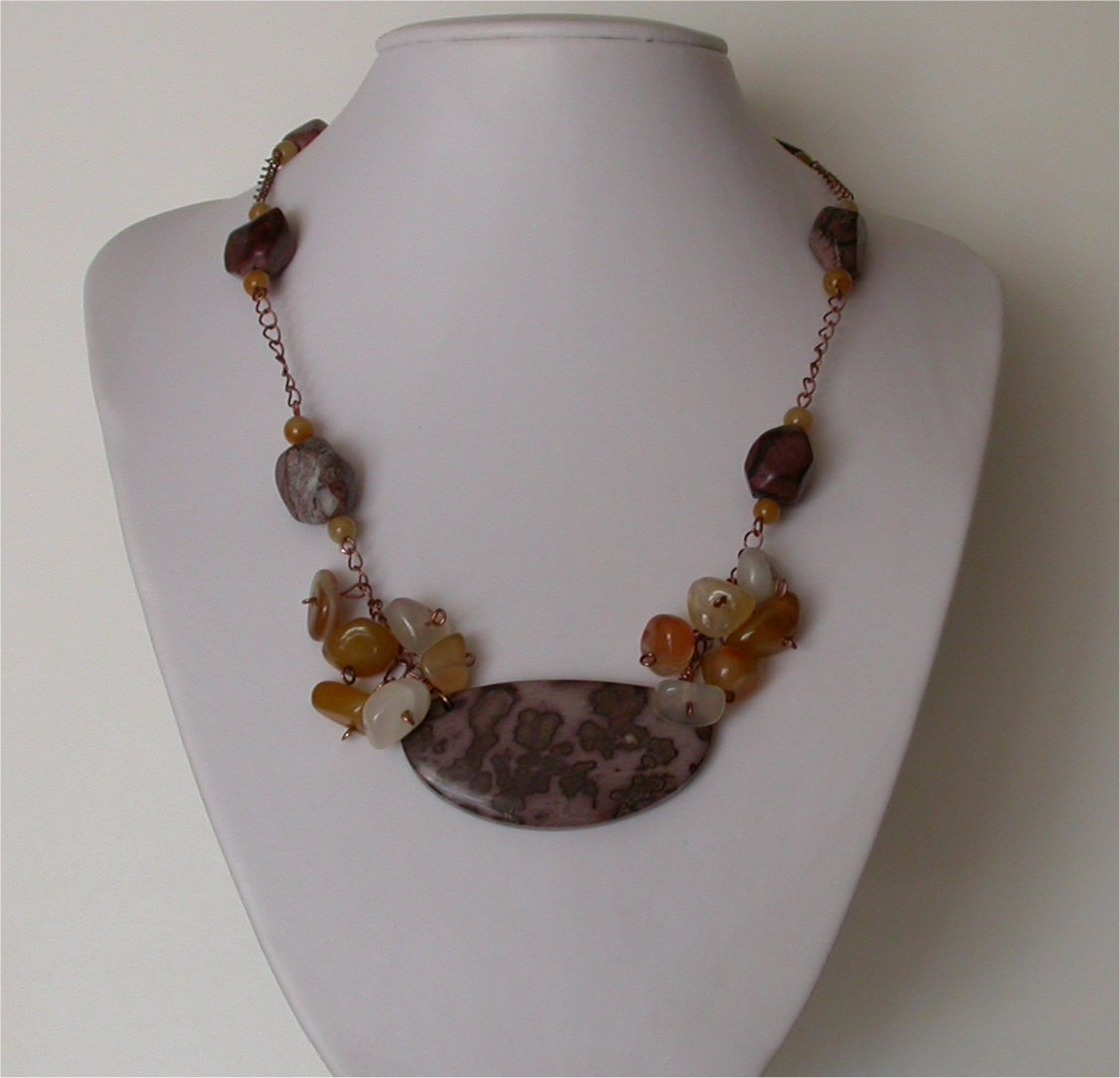 Apache Jasper Necklace - Unique Bold and Trendy necklace