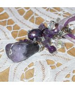 Lovely wire rapped Amethyst pendant - $29.90