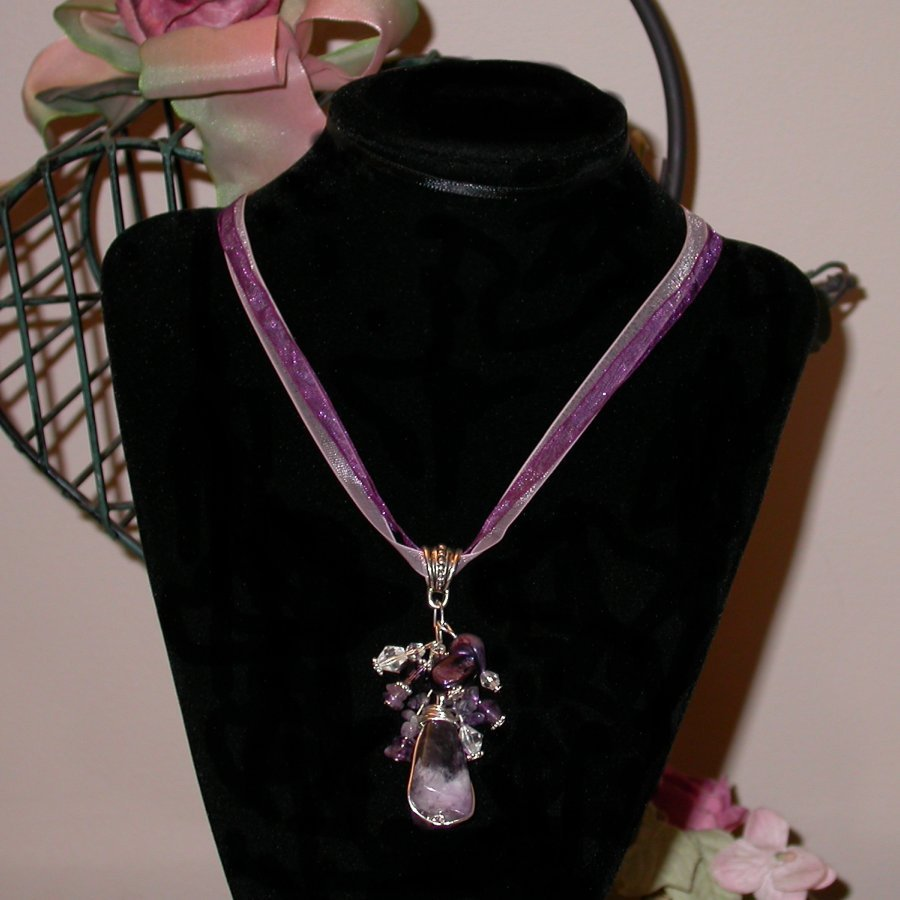 Lovely wire rapped Amethyst pendant