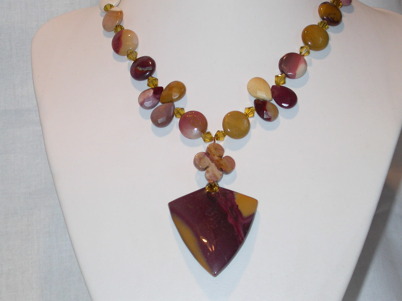 Delicious Cappuccino necklace. Mookaite Necklace and Earring