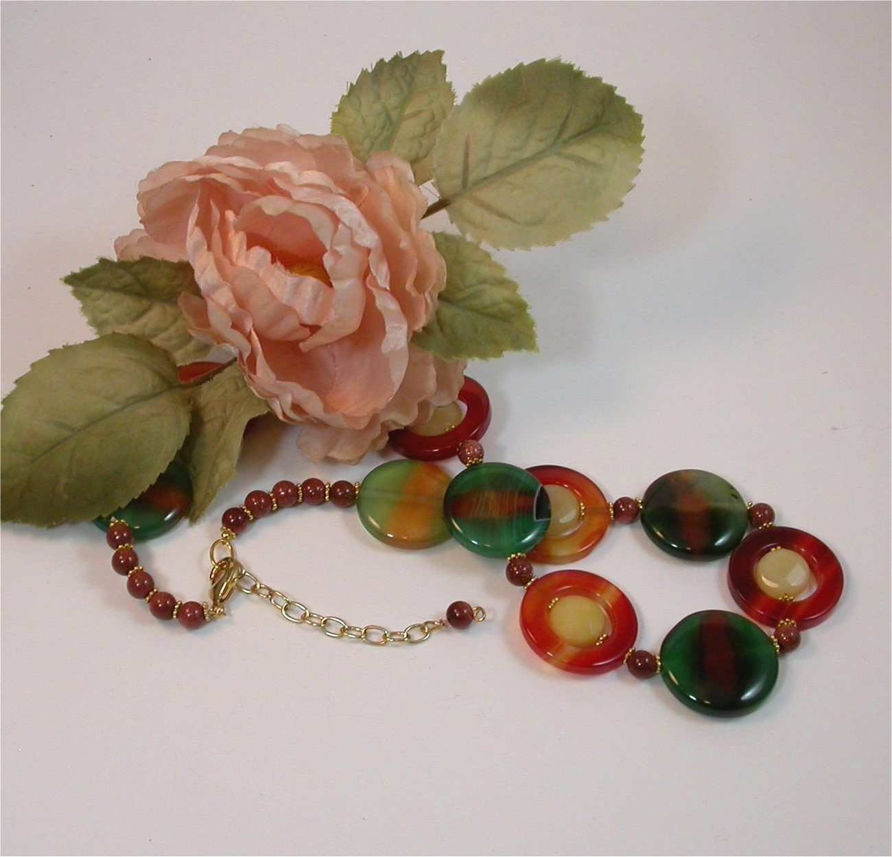 Chalcedony agate and Jade Earrings.